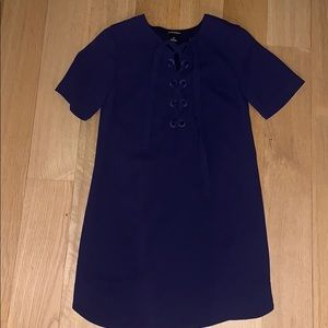 Club Monaco Navy Lace Up Dress